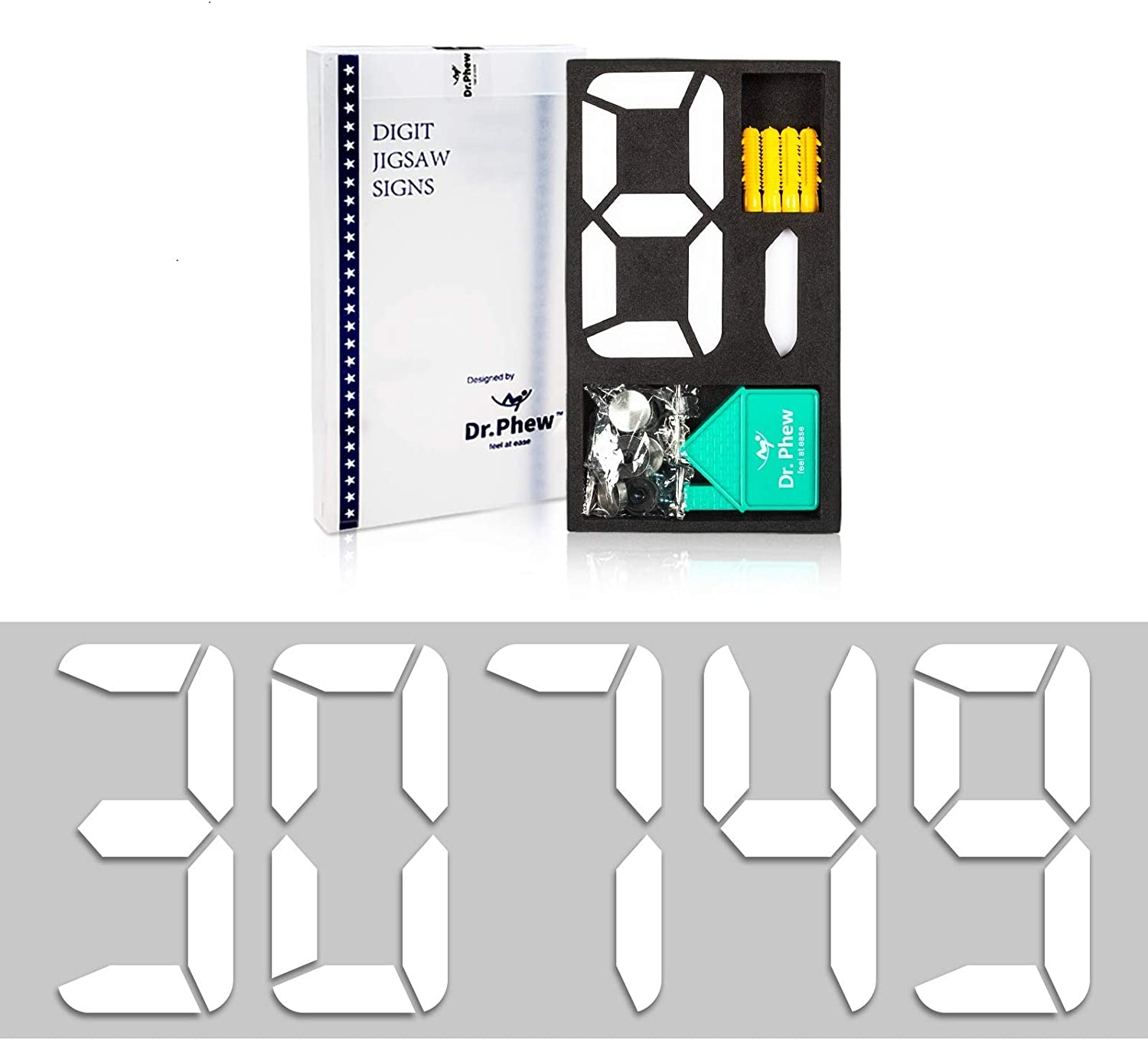 Dr.Phew Solid House Numbers for Outside, 4 inch Address Numbers