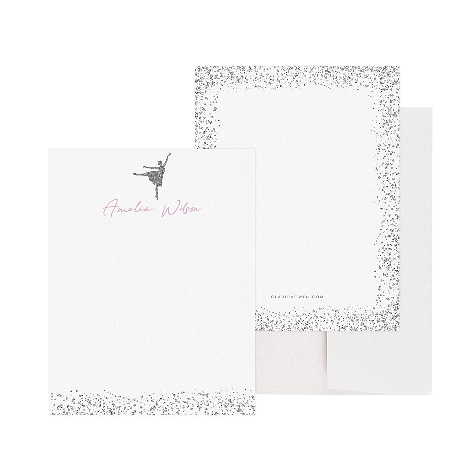 Personalized Ballerina Note Cards Envelopes OFFicial site Stat with Outstanding