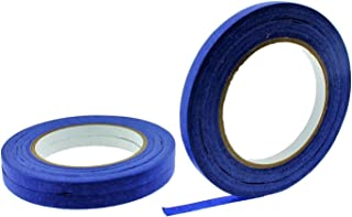 "3pk 3/8"" in x 60 yd Blue Painters Masking Tape Medium High Tack Paper Edging Small Projects Fine Trim Detailing Multi Surf..."