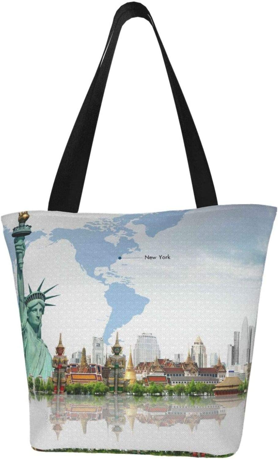 AKLID New York Statue of Liberty New Orleans Mall Extra Large Resistant Can Water Max 70% OFF