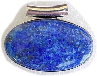 Lapis Lazuli Pendant, Silver Plated Brass Pendant, Handmade Pendant, Gift Jewelry, Women Jewellry, Fashion Jewellry, BRS-1...