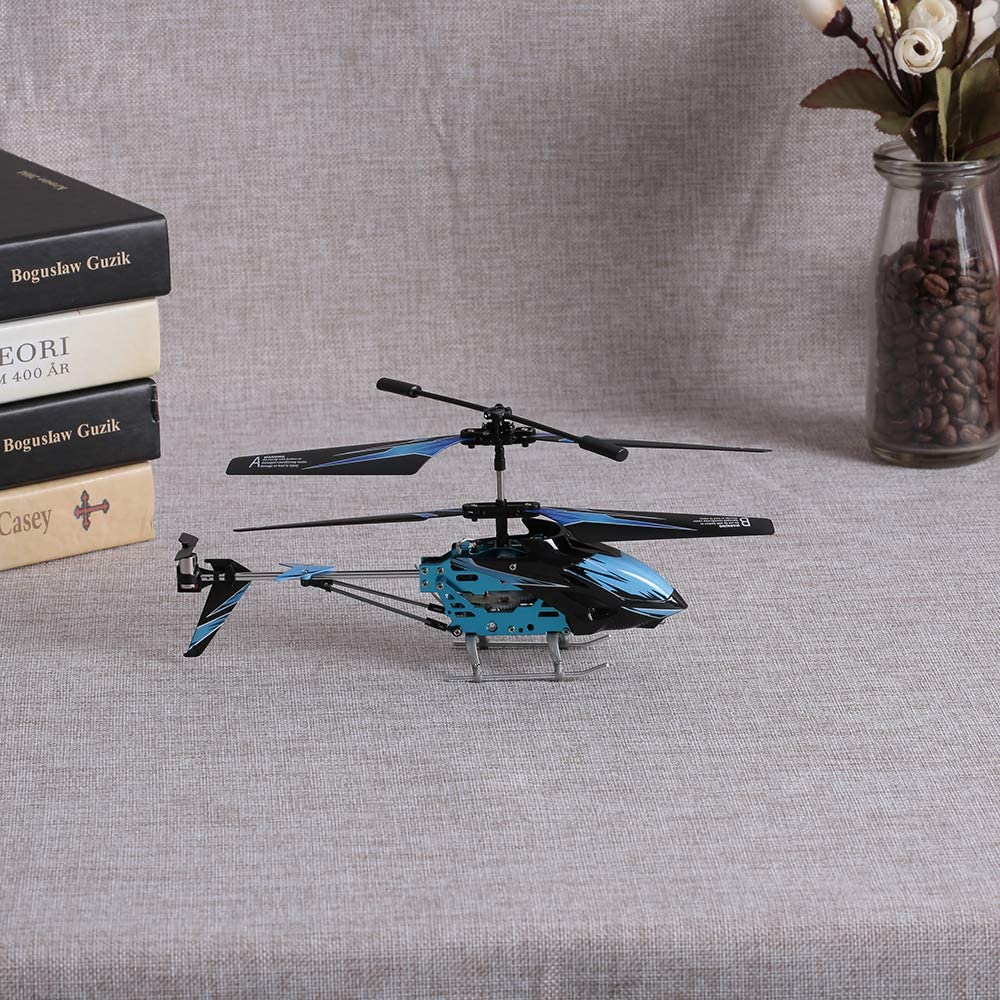 Blue S929-A 3.5 Channel Mini Helicopter for Kids and Beginners Remote Control Helicopter with Gyro and Light GoolRC RC Helicopter