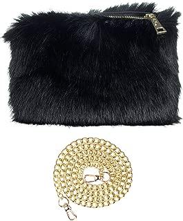 Best black faux fur clutch Reviews