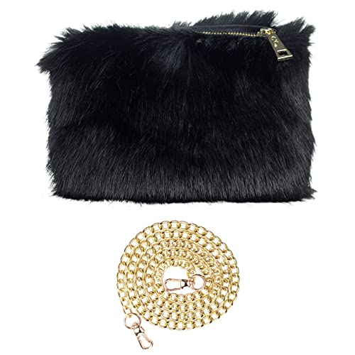31a176d46e23 C.C Women s Evening Faux Fur Fuzzy Crossbody Shoulder Bag Clutch Purse