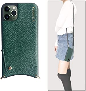 iPhone 11 Wallet Case,Crossbody Phone Case Wallet Leather Case Credit Card Holder Crossbody Chain Handbag Purse Long Strap iPhone 11 Pro Green