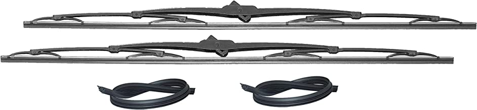32 Inch Wiper Blade Pair for RV or Motorhome with large 12mm J Hook with 2 Rubber Refills