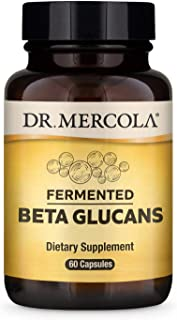 Dr. Mercola Fermented Beta Glucans Dietary Supplement, 30 Servings (60 Capsules), Supports Immune*, Non GMO, Soy Free, Glu...