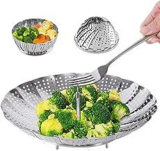 Steamer Basket Stainless Steel Vegetable Steamer Basket Folding Steamer Insert for Veggie Fish Seafood Cooking, Expandable...
