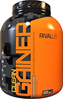 Rivalus Clean Gainer - Chocolate 5 Pound - Delicious Lean Mass Gainer with Premium Dairy Proteins, Complex Carbohydrates, ...