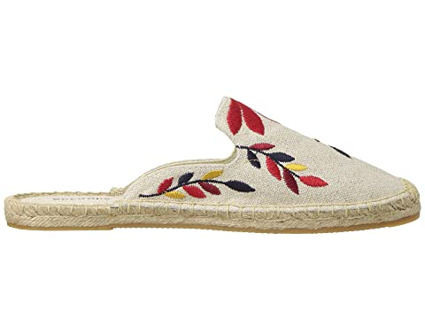Mule IvorySand Red Midnight Soludos Floral Multi Embroidered qfw6T6
