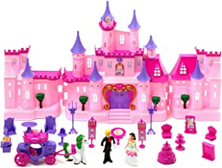 AJ Toys & Games My Dream Castle Light Up & Music Playset Princess Witchery Playset Doll House Childrens Doll House Castle, Multicolor