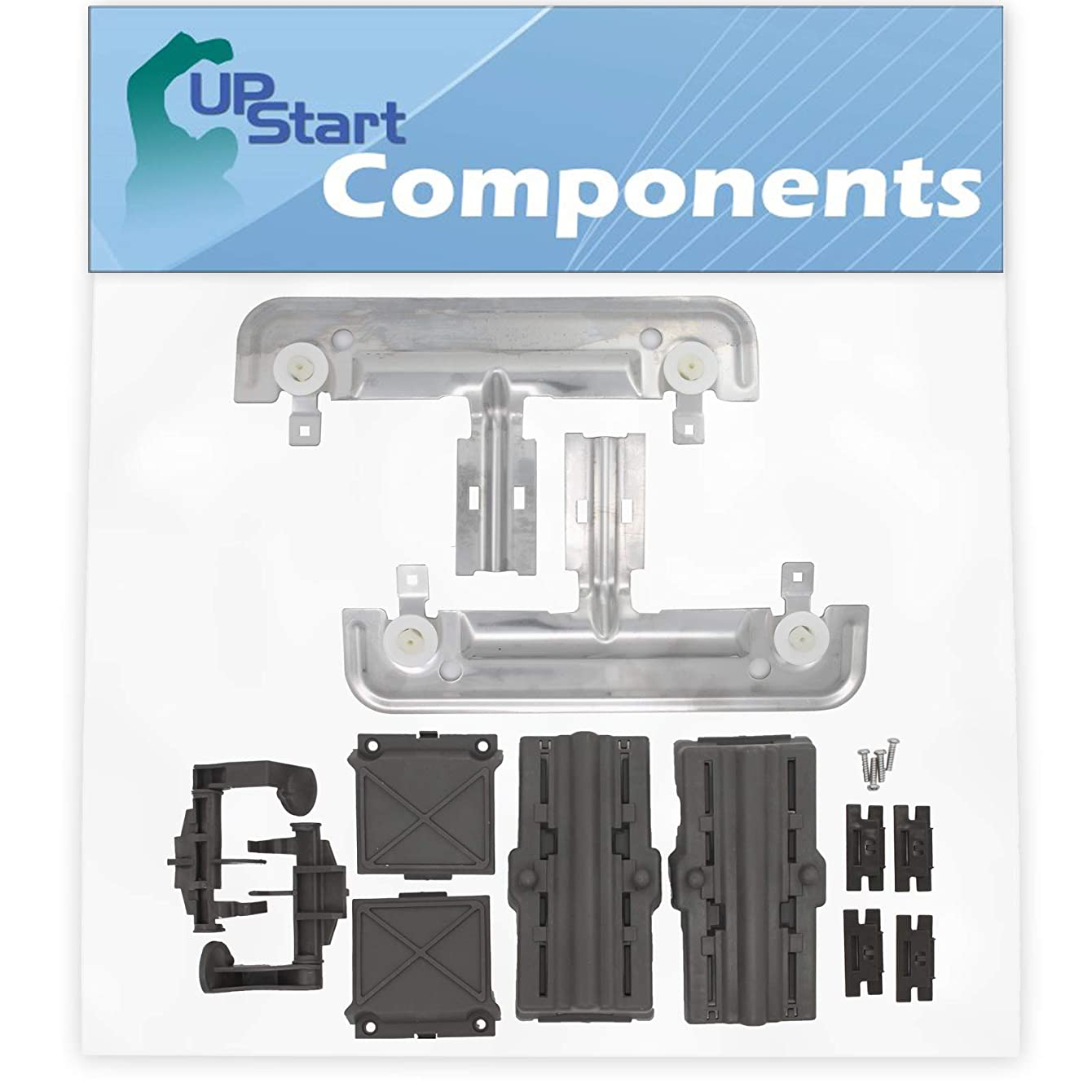 W10712395 Dishwasher Adjuster Replacement Kit Replacement for Whirlpool WDT750SAHZ0 Dishwasher - Compatible with W10712395 Dishwasher Rack Adjuster Kit - UpStart Components Brand