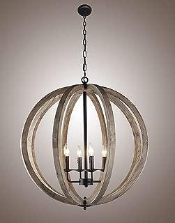 large wood chandelier