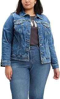 Generic Women/'s Basic Crop Top Button Up Comfort Stretch Denim Jacket