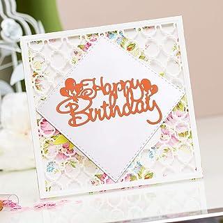 OOTSR Happy Birthday Matrices De Découpe, Matrices De Fabrication De Cartes, Dies Scrapbooking pour Card Album Photo Fête ...