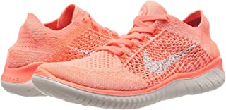 Womens Free Rn Flyknit 2018 Low Top Lace Up Running, Orange, Size 6.5