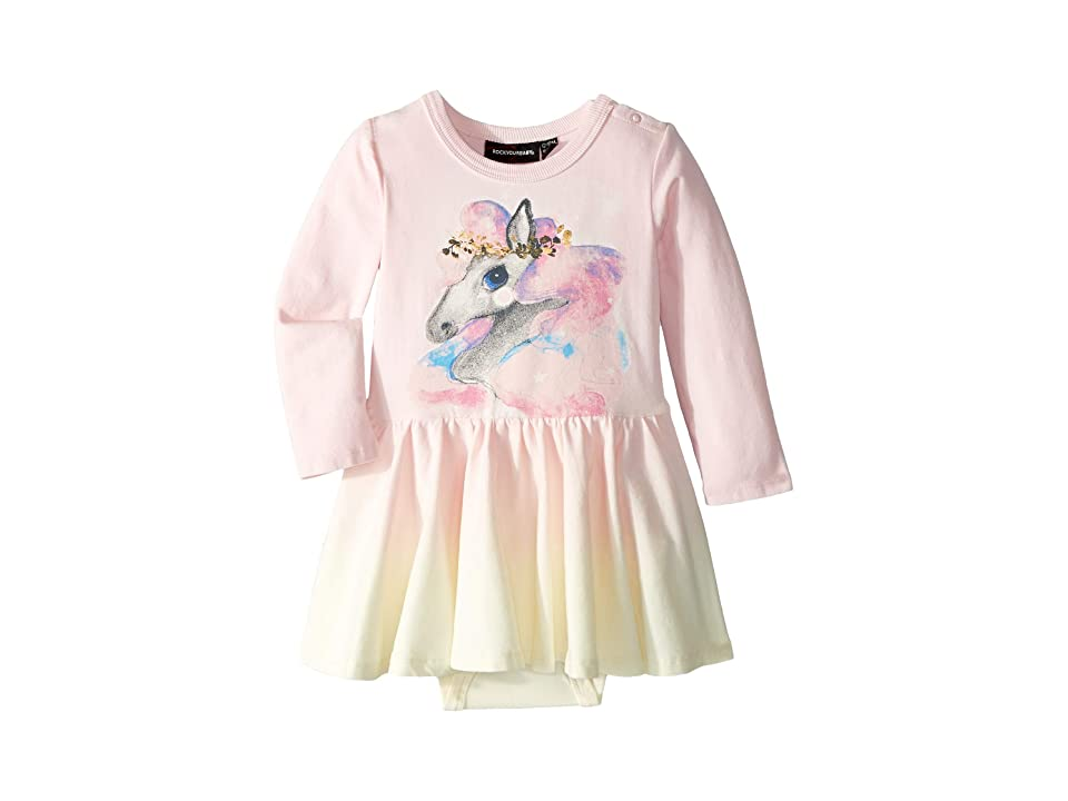 Rock Your Baby Rainbow Brumby Dress (Infant) (Pink Dip-Dye) Girl