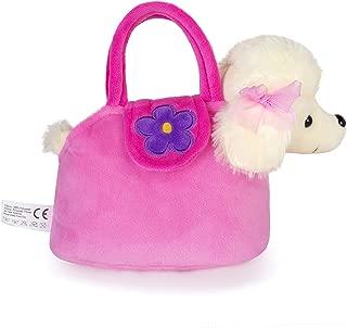 Lazada Girls' Plush Puppy Purse Toddler Carrying Bag Toy Poodle Dog 6
