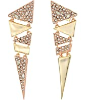 Alexis Bittar - Crystal Encrusted Articulated Triangle Post Earring