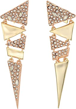 Alexis Bittar Crystal Encrusted Articulated Triangle Post Earring