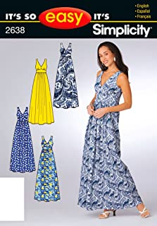 Simplicity Sewing Pattern 2638 It's So Easy Misses Dresses, A (6-8-10-12-14-16)