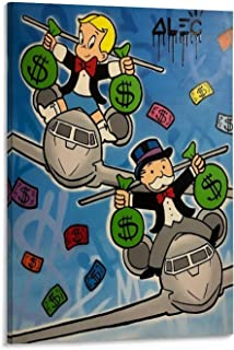 SHEFEI ALEC Monopoly Poster Decorative Painting Canvas Wall Art Living Room Posters Bedroom Painting 24x36inch(60x90cm)