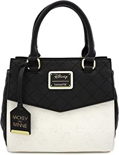 Loungefly x Minnie and Mickey Mouse Debossed Heads Handbag