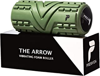 Premvida 3-Speed Vibrating Foam Roller - High Intensity Vibrating Massage Roller for Deep Muscle Recovery & Deep Tissue Sports Massage, Electric Back Roller for Running, Mobility, Myofascial Release