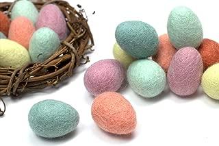 Felted Easter Eggs- Wool Felt Easter Eggs for Spring- Pastel, Decor, Garland, Wreath, Basket, Crafts