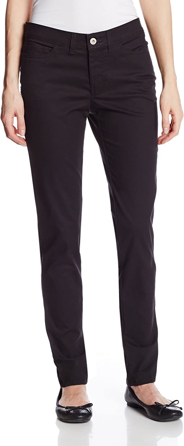 Dickies Women's 5Pocket Slim Skinny Stretch Twill Pant