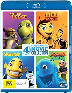 Dreamworks 4 Film Collection (Over The Hedge/Bee Movie/Shark Tale/Monsters vs Aliens)