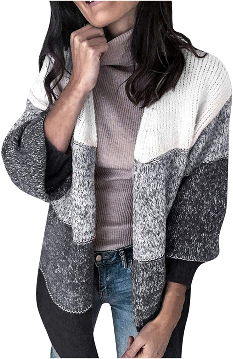 Women Knitted Cardigan Sweater Long Sleeve V Neck Button Down Short Navel Knit Cardigan Sweaters Outerwear Tops