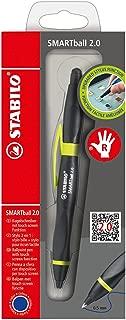Ballpoint -STABILO SMARTball 2.0 Right Handed Black/Kiwi Blue Ink