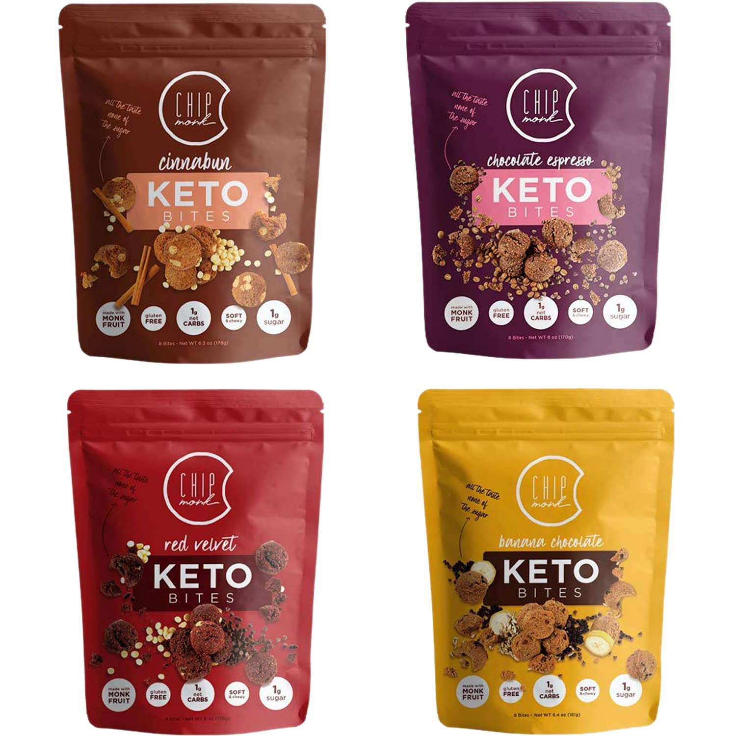 New Shipping Free ChipMonk Keto Cookie Bites - Snacks with Carb or Zero Low Bargain