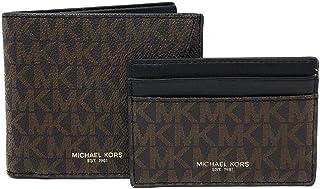 مجموعة محافظ جلدية بطيتين للبطاقات للرجال من مايكل كورس - قطعتين