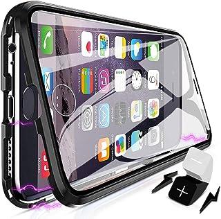 XCYYOO Coque pour iPhone 6 Plus/6s Plus,360 Degrés Avant et arrière Verre trempé Transparent Case Cover, Technologie d'ads...