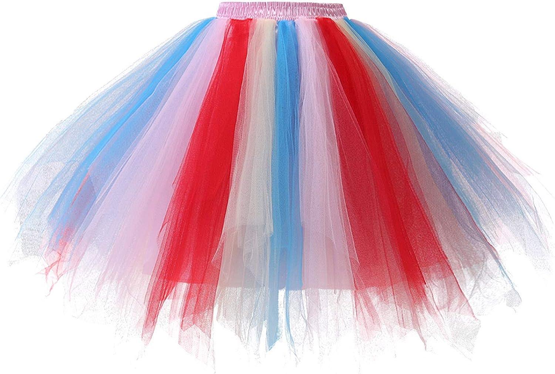 Gardenwed Tutu Party Costume Skirt for Women Tulle Ballet Bubble Petticoat Puffy Dance Skirt