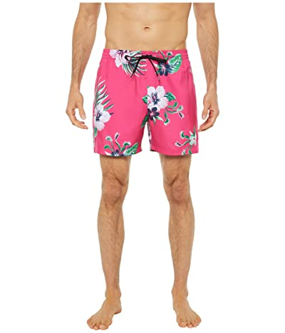 Vans Mixed Volley Boardshorts (Fuchsia Purple Trap Floral) Men