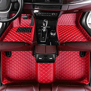 Maite Custom Car Floor Mat Fit for Audi S5 Saloon 2009-2016 Full Surrouded XPE Leather Waterproof Carpets Mats Red