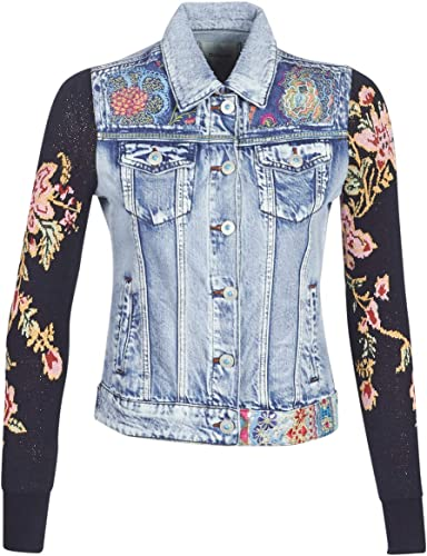Desigual Mexican Classic Jacken Damen Blau Jeansjacken