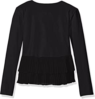 Girls' Overlapping Pleated Jacket