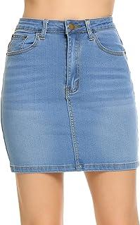 Shine Women Stretch Denim Mini Skirt