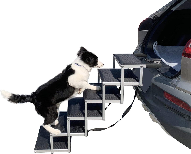 YEP HHO Dog Steps for SALENEW very popular! Lightweight P Ranking TOP9 Large Foldable Aluminum