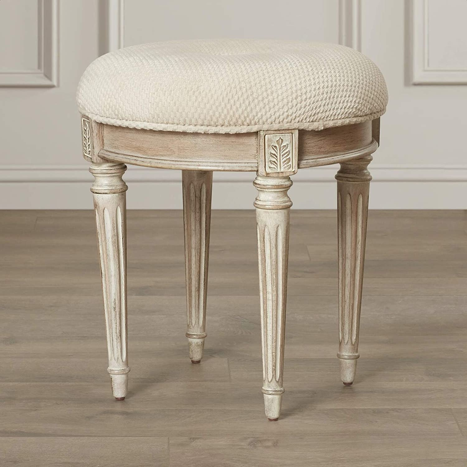 Corinne Vanity Stool Weight Capacity: Material: Frame 175 Limited Super beauty product restock quality top! time sale lb.