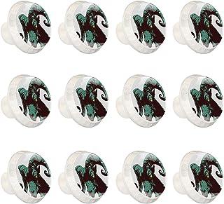 Boutons D'armoire 12 Pcs Poignés Poignée De Champignons Porte Poignées avec Vis pour Cabinet Tiroir Cuisine,Mythe conte de...