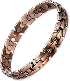 Mens Copper Magnetic Therapy Bracelets for Arthritis Wristband Adjustable