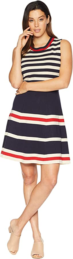 Multi Striped Fit & Flare Dress