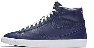 Blazer mid PRM Mens hi top Trainers 429988 Sneakers Shoes (US 9.5, Binary Blue Whit Black 402)