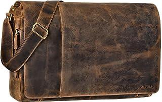 STILORD 'Maximus' XXL torba skórzana ogromna torba na ramię uniwersalna 17 18 19 21 cali laptop aktówka torba biurowa bawo...