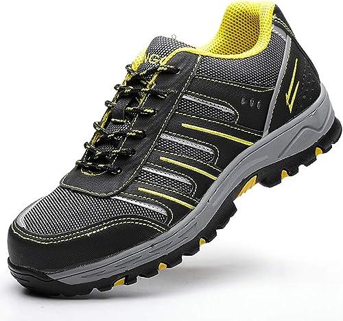 ZYFXZ Bottes de Travail Chaussures de Travail et de Travail légères et Confortables pour Hommes et Femmes Bottes de sécurité (Couleur   C, Taille   43)